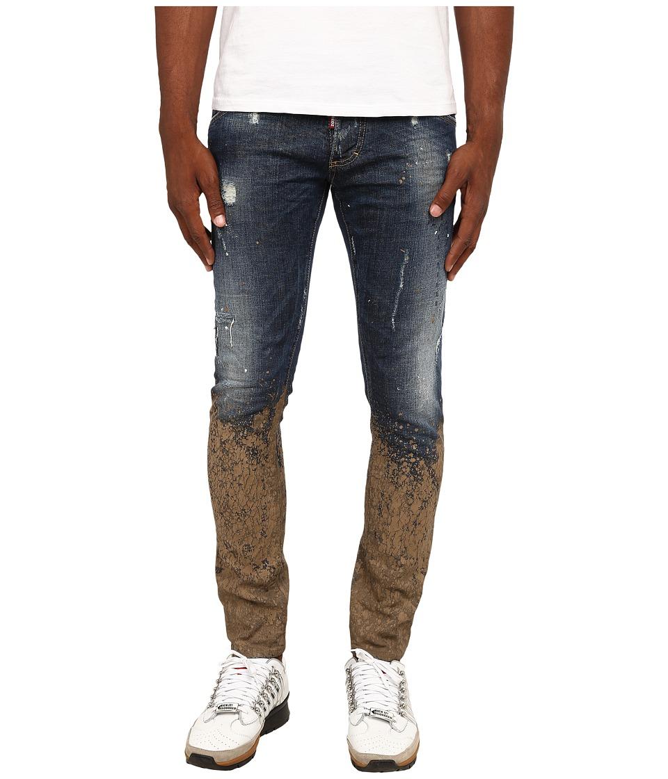 DSQUARED2 - Mud Clement Jeans (Blue/Mud) Men's Jeans