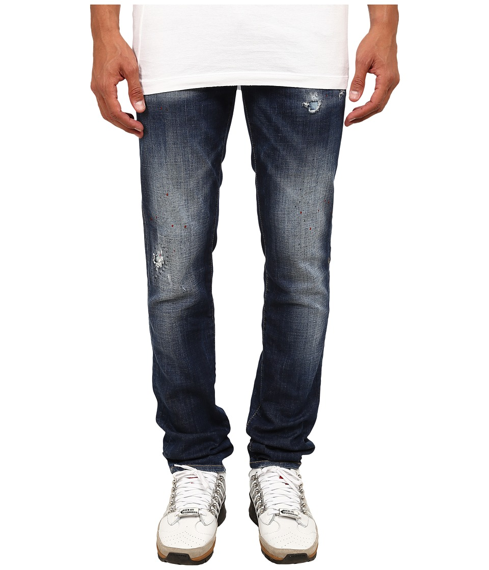 DSQUARED2 - Spotted Slim Jeans (Blue/Mud) Men's Jeans