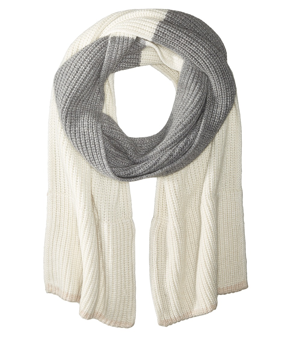 Kate Spade New York - Zip-Up Pocket Muffler (Cream/Grey Melange/Pumice) Scarves