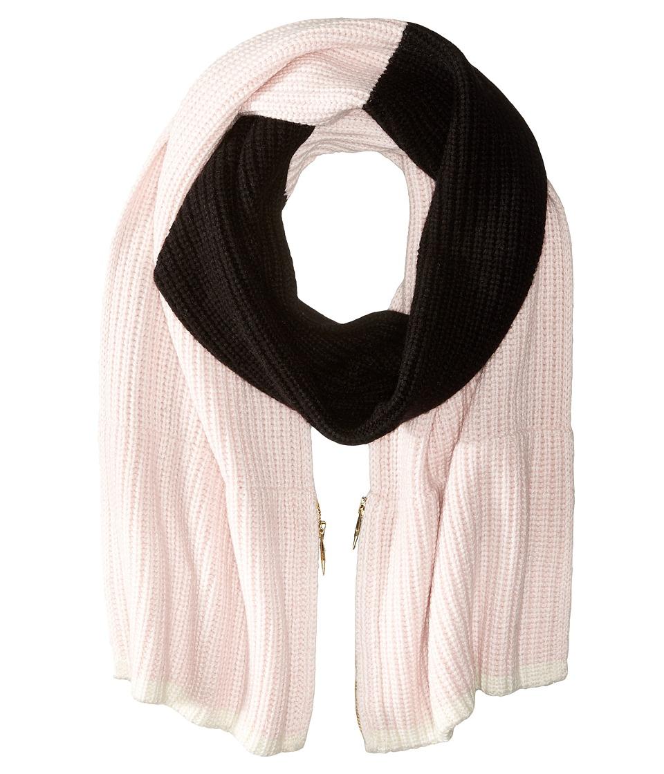 Kate Spade New York - Zip-Up Pocket Muffler (Pastry Pink/Black/Cream) Scarves