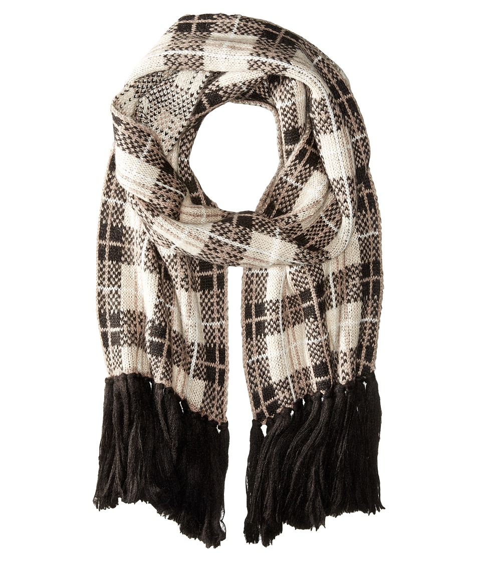 Kate Spade New York - Woodland Plaid Muffler (Pumice) Scarves