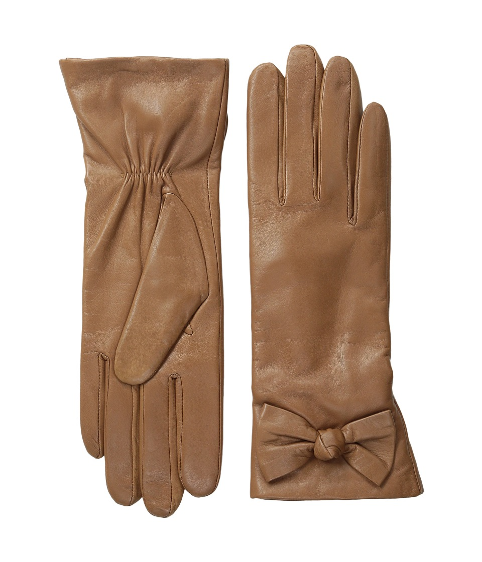 Kate Spade New York - Bon Bon Bow Glove (Camel) Extreme Cold Weather Gloves