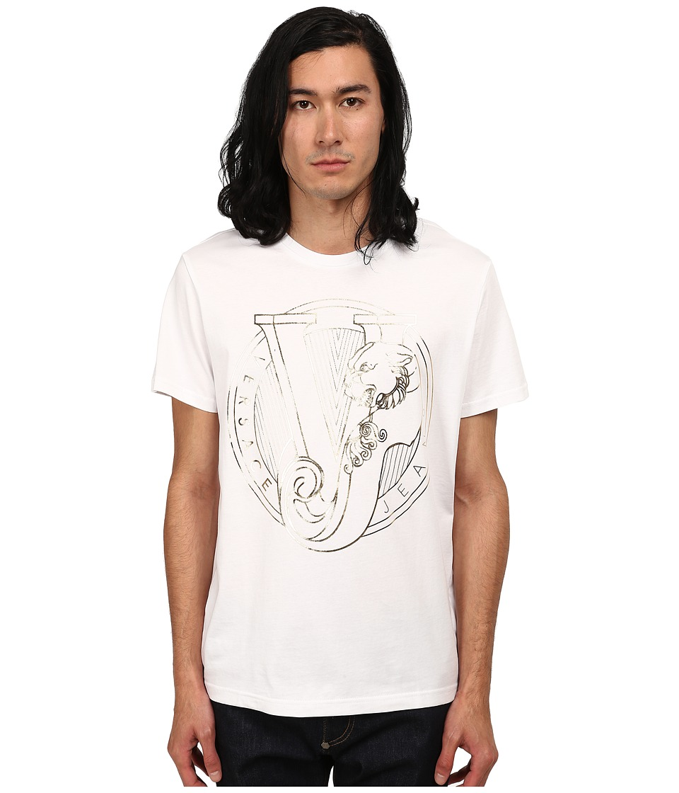 Versace Jeans - Metallic Tiger Logo T-Shirt (White) Men's T Shirt