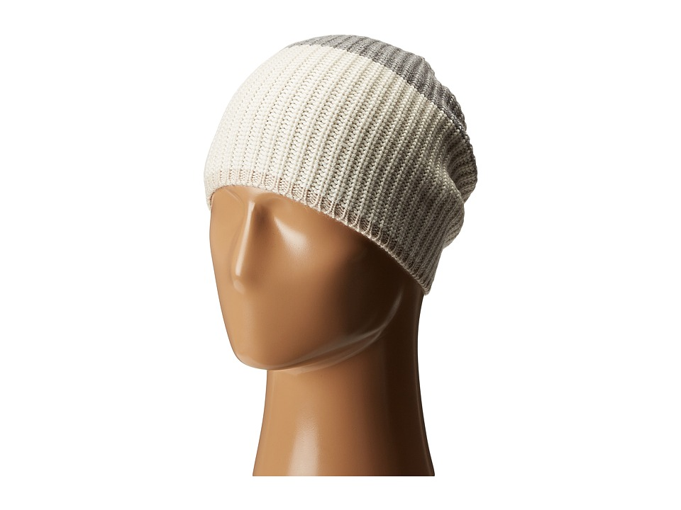 Kate Spade New York - Zip-Up Beanie (Cream/Grey Melange/Pumice) Beanies