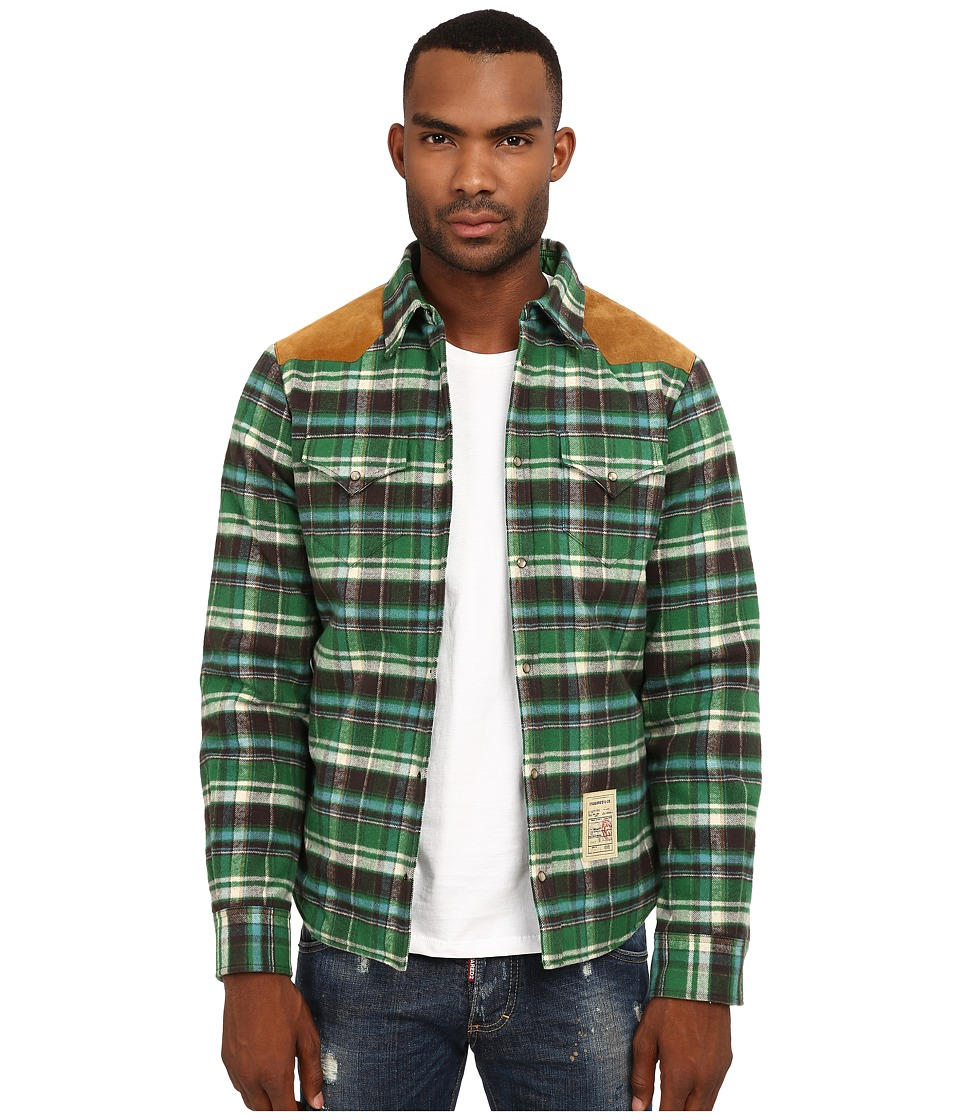 DSQUARED2 - Western Shirt (Brown/Green) Men's Clothing