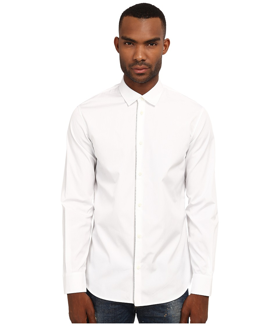 DSQUARED2 - Front Zip Detail Shirt (White) Men's Clothing