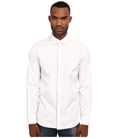 DSQUARED2 - Front Zip Detail Shirt (White) Men