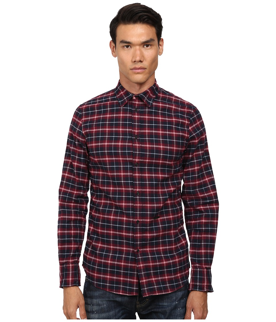 DSQUARED2 - Metal Wired Shirt (Mix Colours) Men's Long Sleeve Button Up