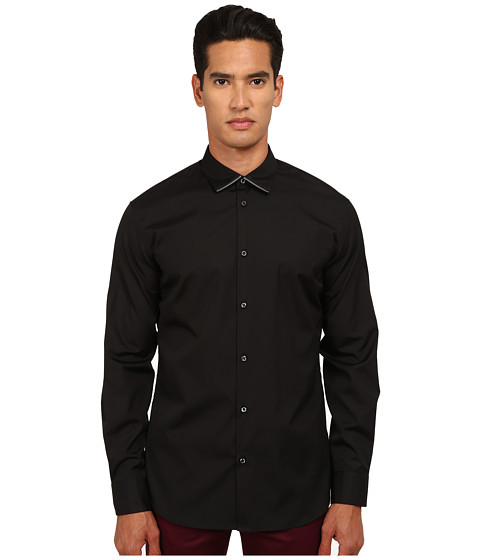 DSQUARED2 - Collar Zip Detail Shirt (Black) Men