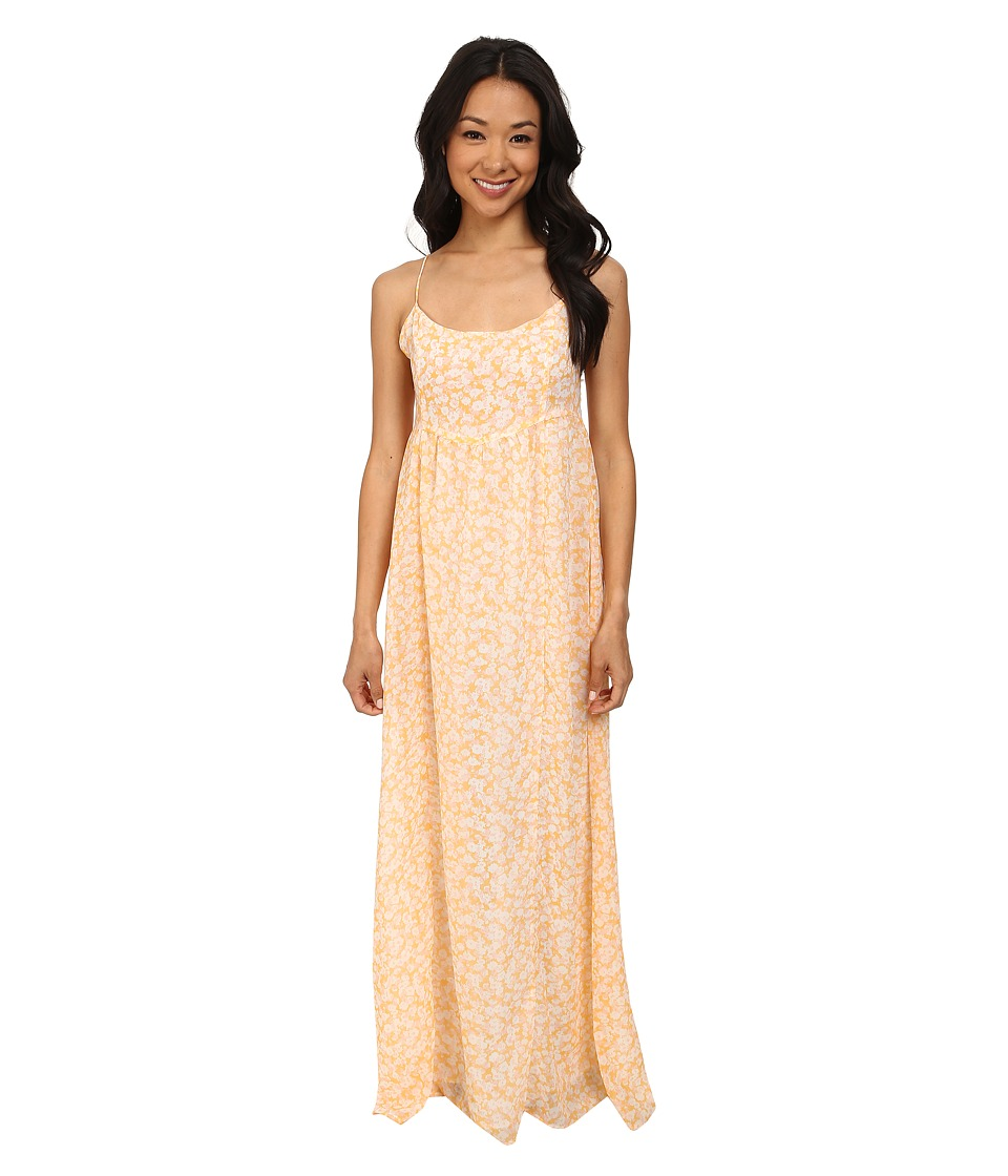 Volcom - Great Lengths Maxi Dress (Citrus Gold) Women's Dress