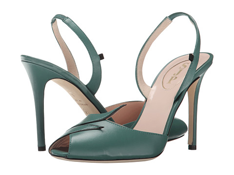 SJP by Sarah Jessica Parker - Cindy (Green Nappa) Women's Sling Back Shoes