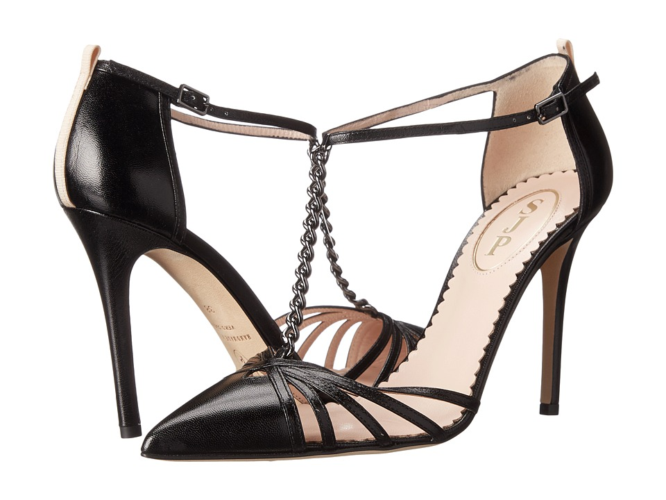 SJP by Sarah Jessica Parker - Carrie Chain (Black Leather) Women