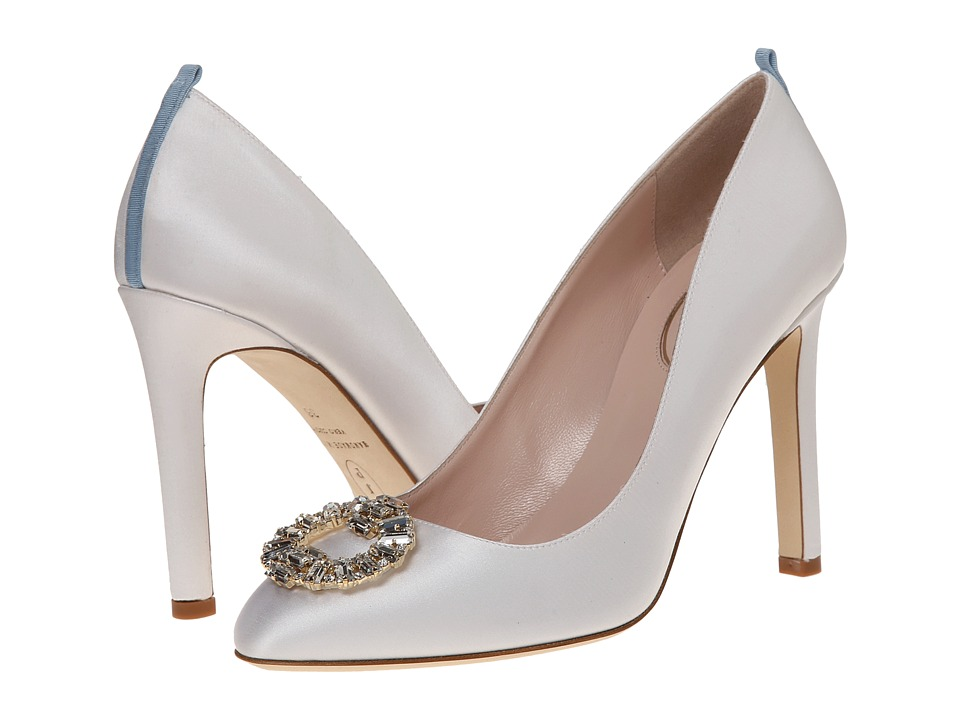 SJP by Sarah Jessica Parker - Angelica (White Satin) Women's Shoes