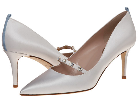 SJP by Sarah Jessica Parker - Daphne 70mm (White Satin) High Heels