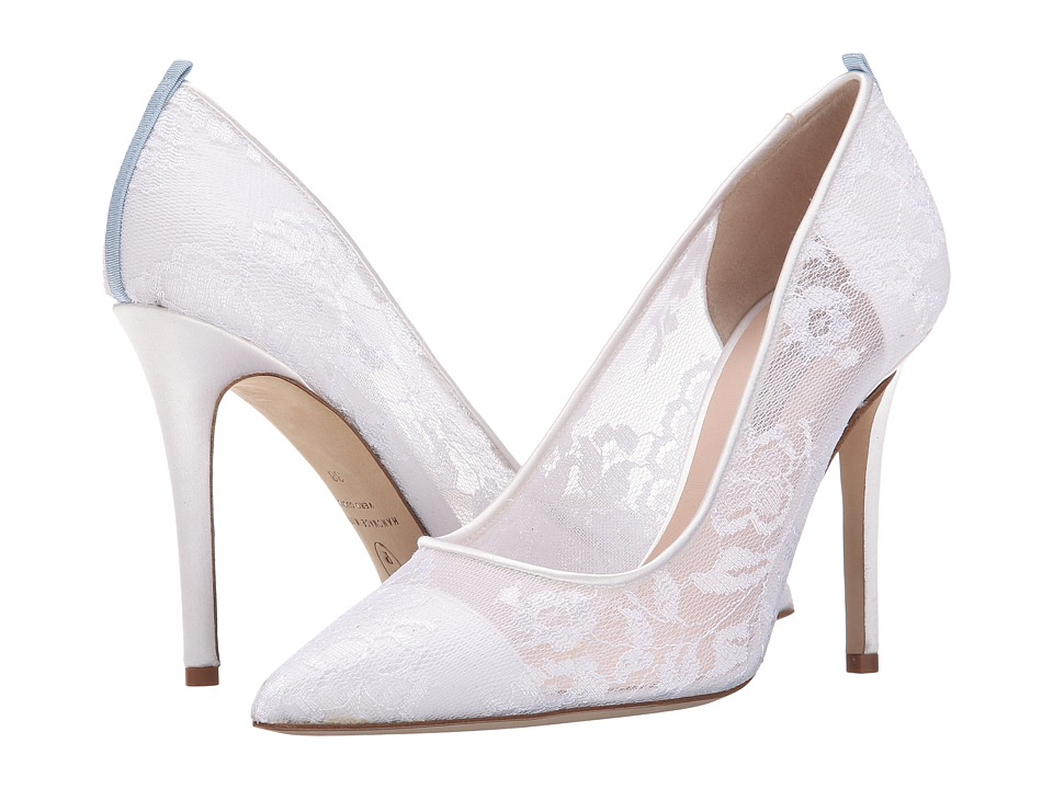SJP by Sarah Jessica Parker - Fawn Lace (White Satin) Women's Shoes