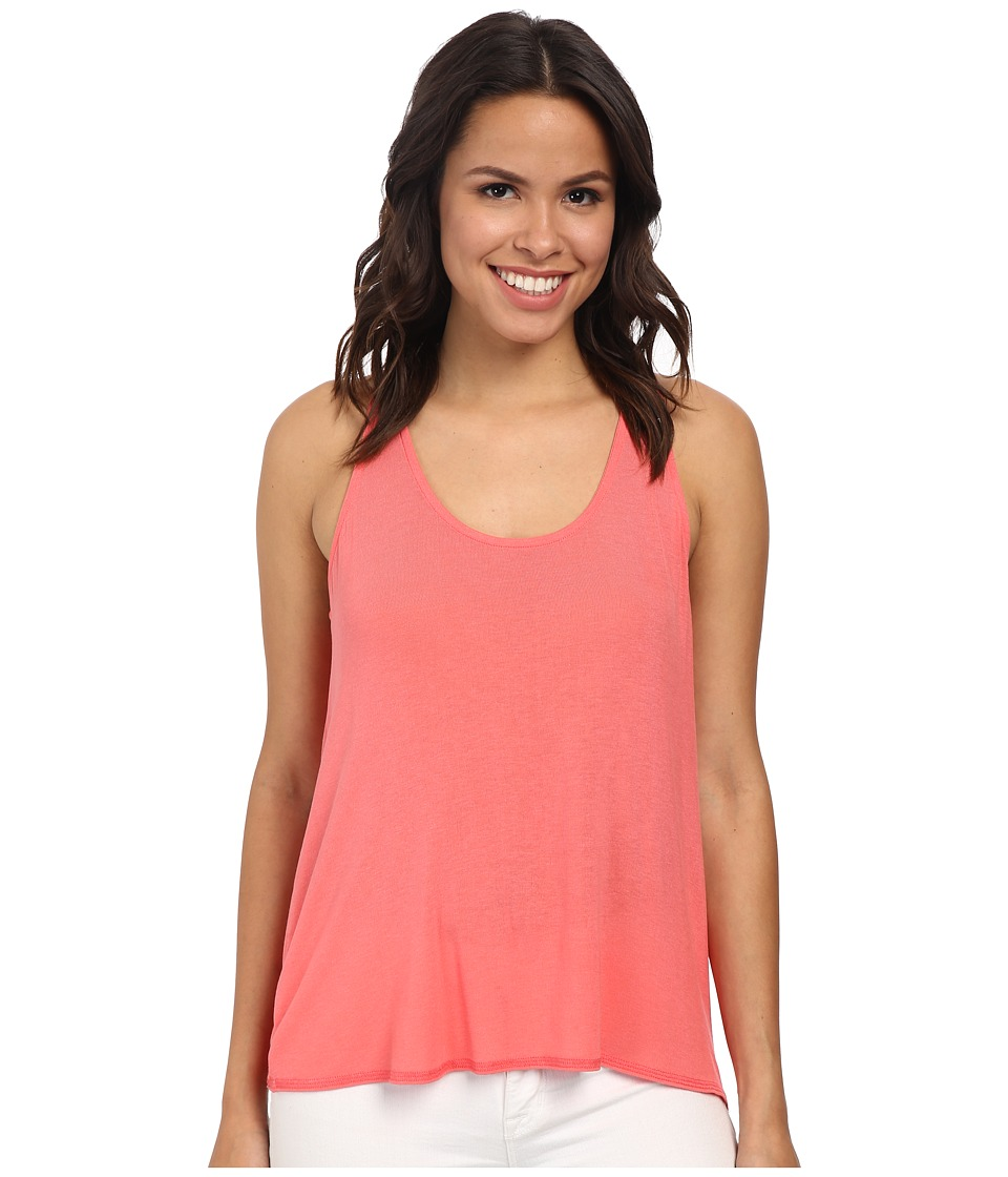 Splendid - Drapey Lux Tank Top (Coral) Women's Sleeveless