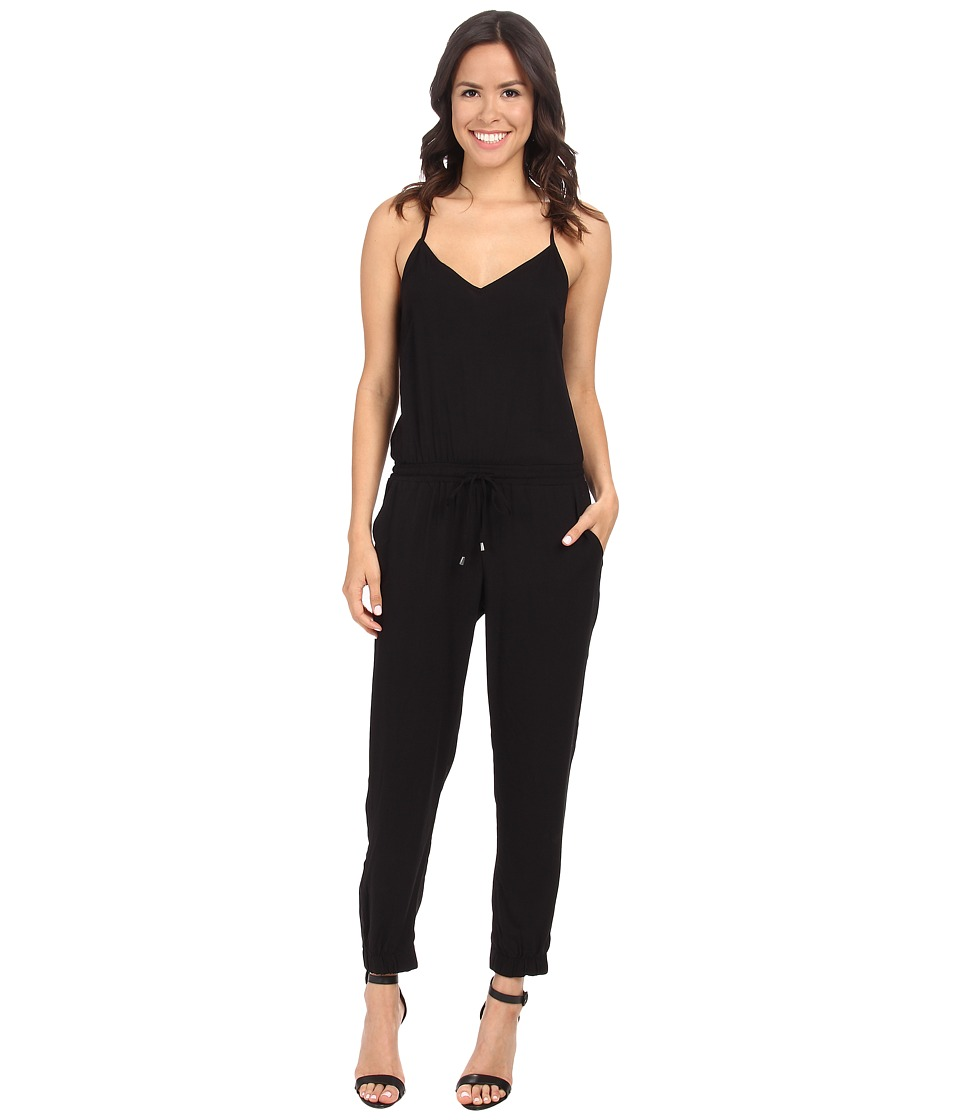 Splendid - Rayon Voile Jumpsuit (Black) Women's Jumpsuit & Rompers One Piece