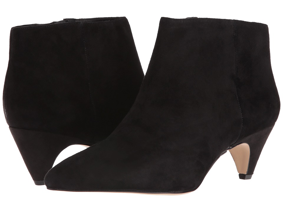 Sam Edelman Lucy Ankle Boot (Black Suede/Canvas 1) Women
