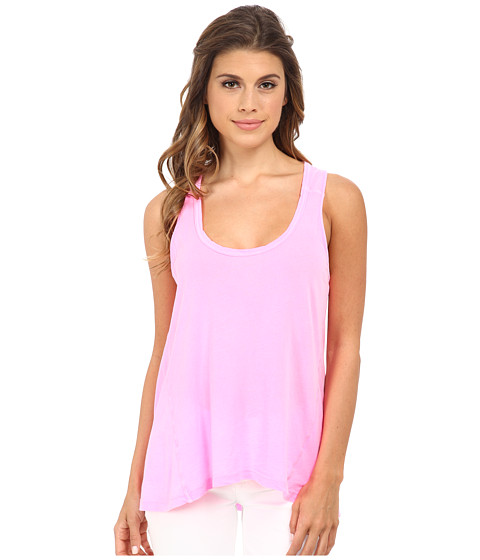 Splendid - Vintage Whisper Tank Top (Neon Pink) Women's Sleeveless