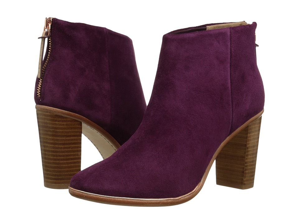 Ted Baker - Lorca 2 (Dark Wine Suede) Women's Zip Boots