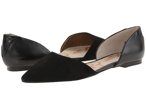 Sam Edelman - Riley (Black Suede) Women's Dress Flat Shoes