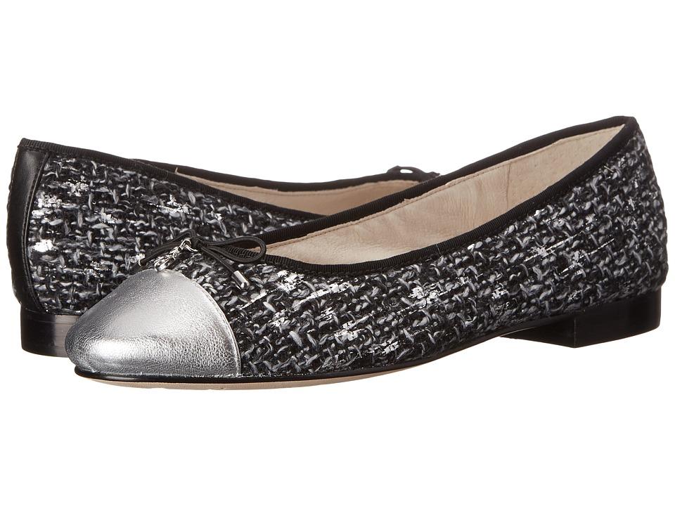Sam Edelman Sara Black White Boucle Womens Shoes