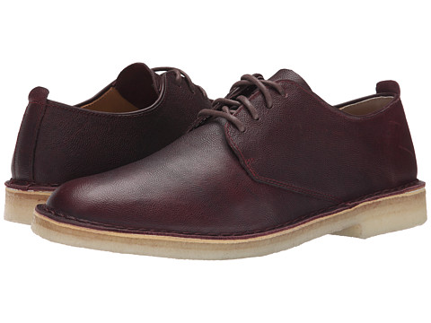 Clarks - Desert London (Wine Leather) Men's Lace up casual Shoes