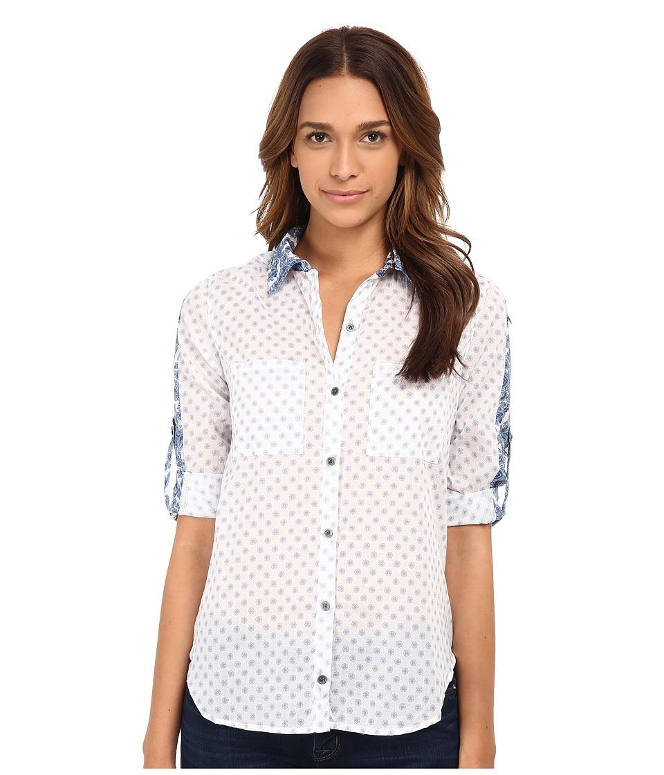 Seven7 Jeans - Button Down Shirt (Faded Blue) Women