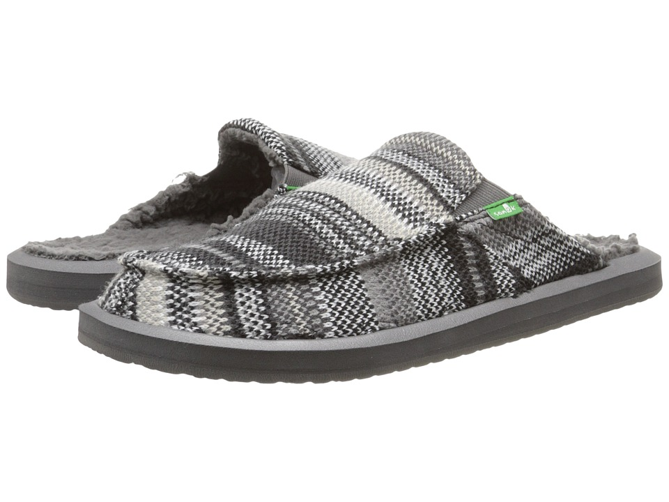 Sanuk - You Got My Back 2 Basics Chill (Black Stripe Knit) Men's Slip on Shoes