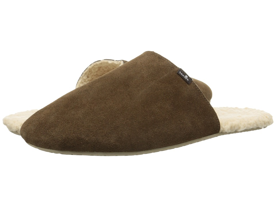 Sanuk - Half Dome Suede (Brown) Men's Slippers