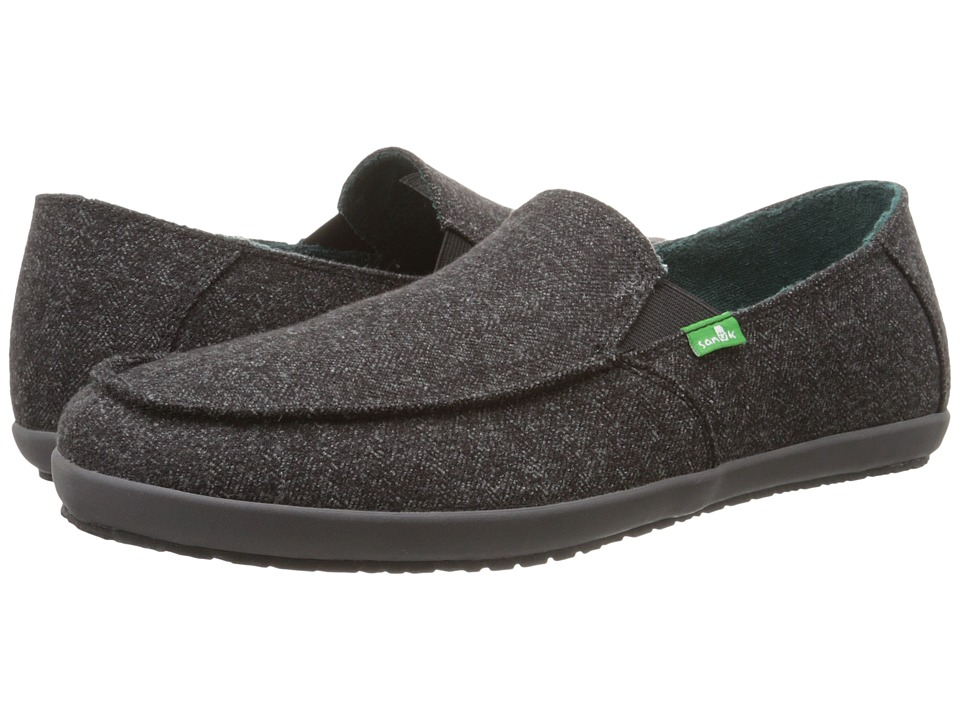 Sanuk - Casa TX (Black Herring) Men's Slip on Shoes