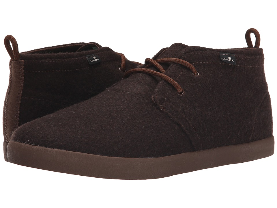 Sanuk - Cargo TX (Brown Wool) Men's Lace up casual Shoes