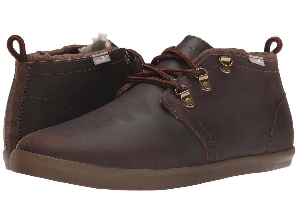 Sanuk - Cargo Deluxe Chill (Brown) Men's Lace up casual Shoes