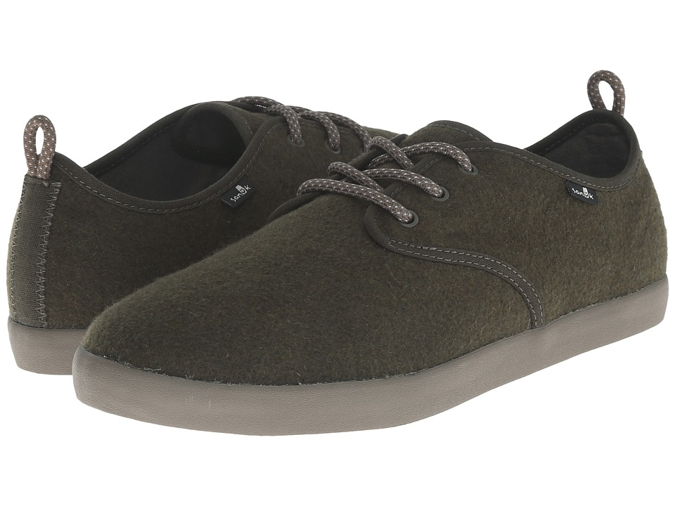 Sanuk - Guide TX (Dark Olive Wool) Men's Lace up casual Shoes