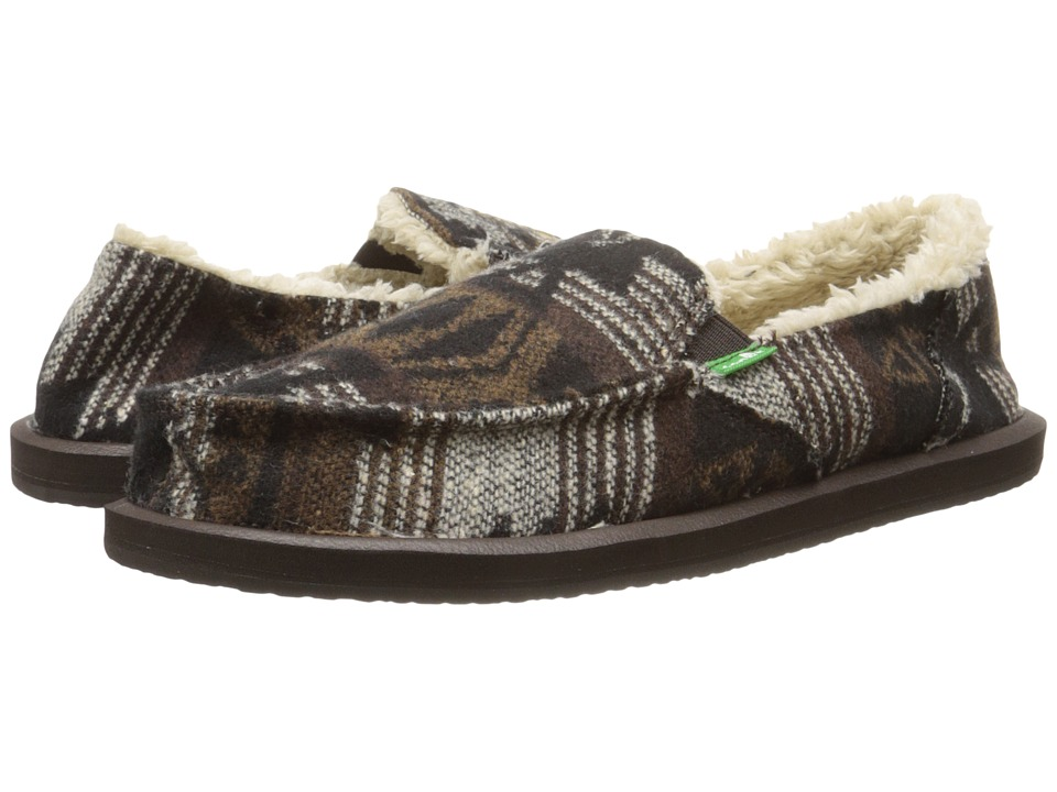 Sanuk - Siena (Black/Brown Navajo) Women's Slippers