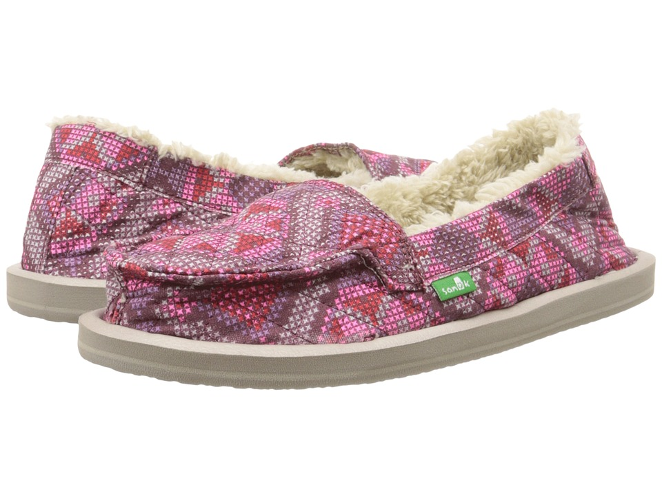 Sanuk - I Can't Quilt You (Hot Pink) Women's Slip on Shoes