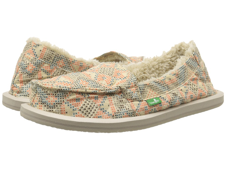 Sanuk - I Can't Quilt You (Melon) Women's Slip on Shoes