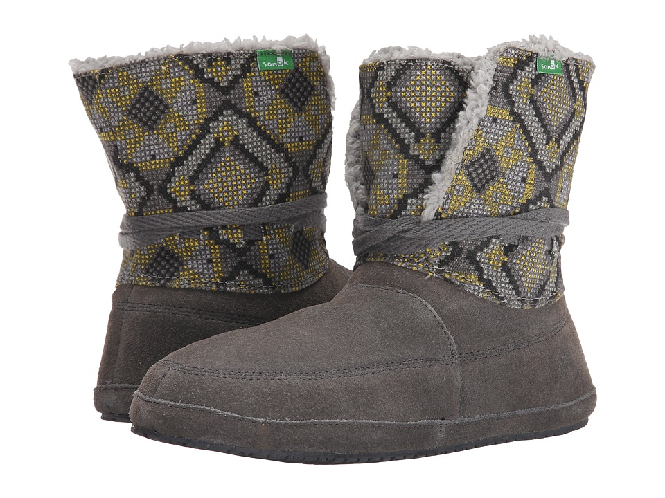 Sanuk - Sun Down Chill (Charcoal/Highlighter) Women's Lace-up Boots