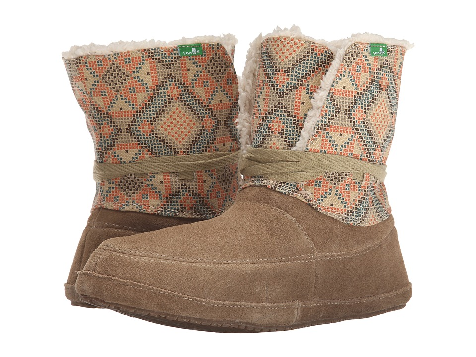 Sanuk - Sun Down Chill (Tan/Melon) Women's Lace-up Boots