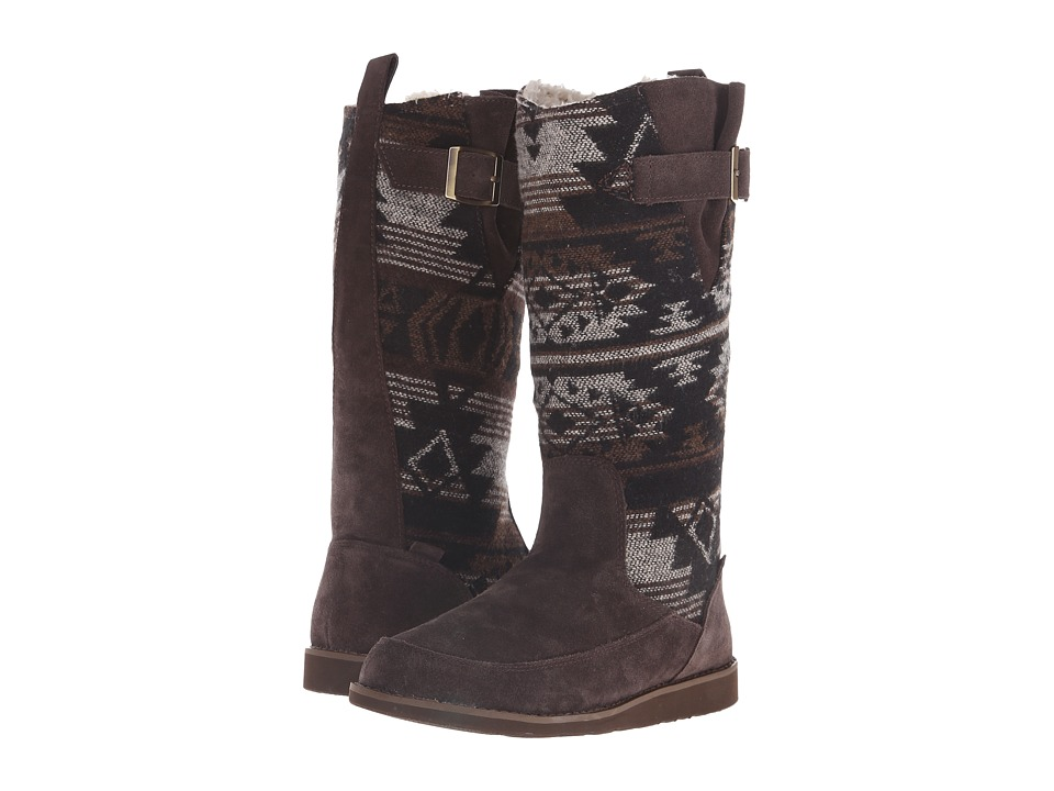 Sanuk - Siena Boot (Black/Brown Navajo) Women