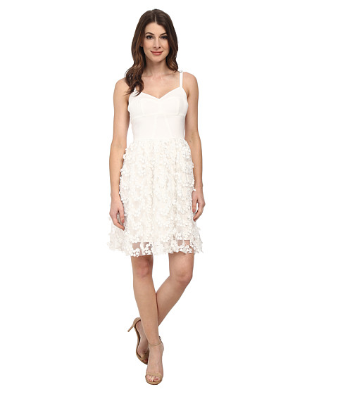 Amanda Uprichard - Confetti Lace Champagne Dress (White Confetti) Women