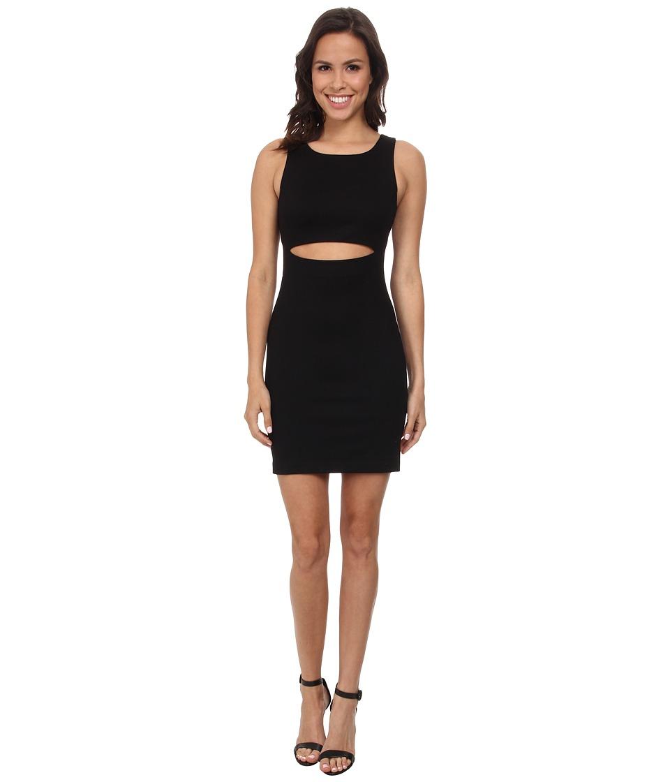Amanda Uprichard - Crop Slit Front Dress (Black) Women