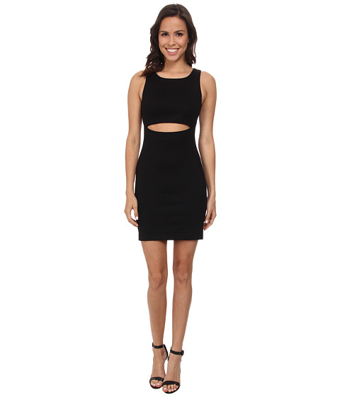 Amanda Uprichard - Crop Slit Front Dress (Black) Women