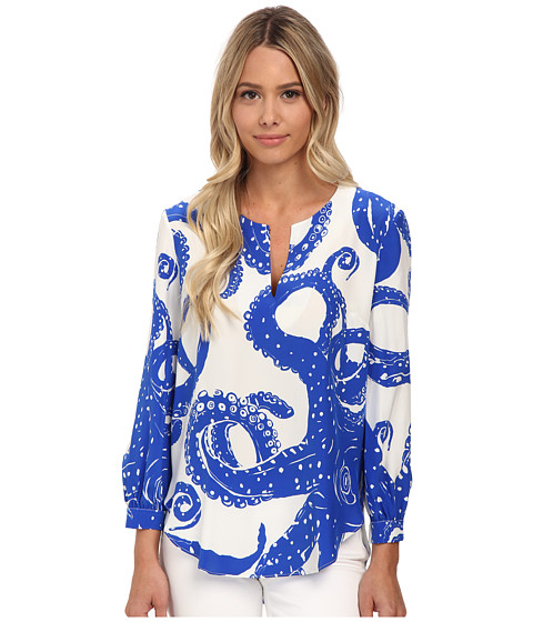 Amanda Uprichard - Campbell Top (Octopus Blue) Women's Blouse