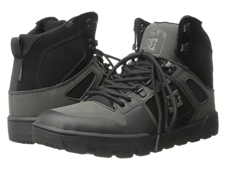 DC - Spartan High WR Boot (Black/Black/Grey) Men's Boots