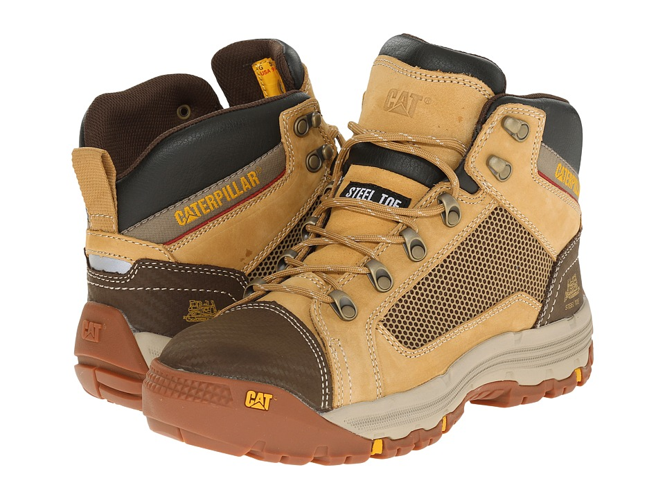 Caterpillar - Convex Mid Steel Toe (Honey Reset) Men's Work Boots