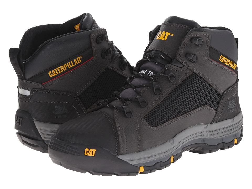Caterpillar - Convex Mid Steel Toe (Black) Men's Work Boots