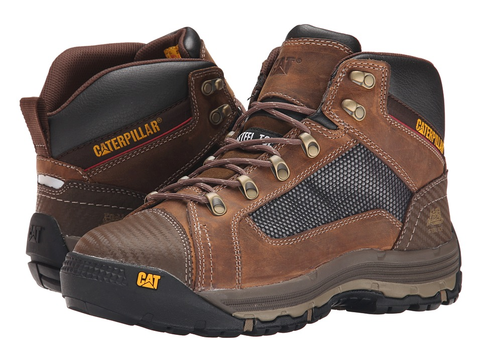 Caterpillar - Convex Mid Steel Toe (Dark Beige) Men's Work Boots