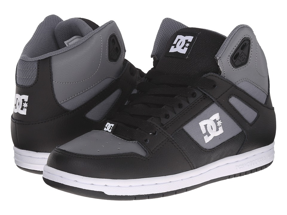 DC - Rebound Hi W (Black/Armor) Women's Skate Shoes