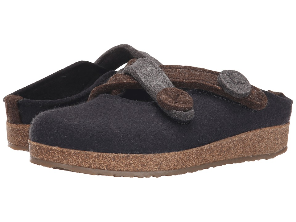 Haflinger - Janie (Black) Women's Slippers